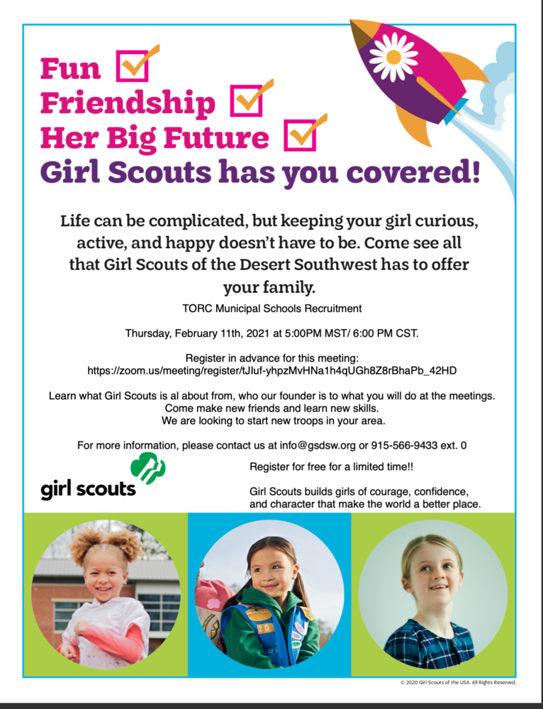 Girl Scouts Registration